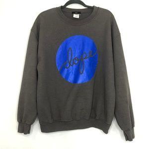 Dope Gray & Blue Sweatshirt Men's Size Large